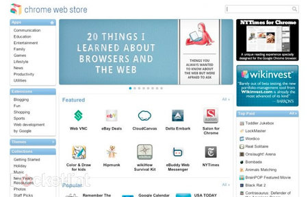 Google Chrome Web Store detailed and launched