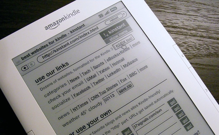 Kinstant-ly improve your Amazon Kindle browser