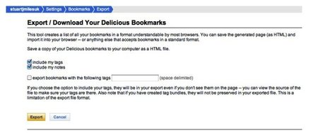 Delicious is closing, so how do you export your bookmarks?