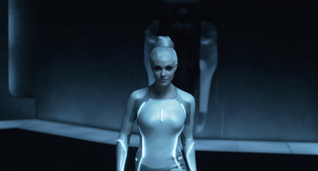Tron: Legacy - photos, ladies and lightcycles - photo 4