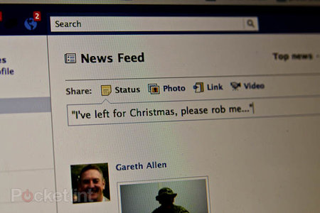 Facebook status could increase risk of burglary say police