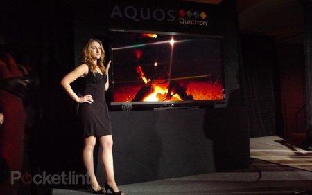 Sharp unveils 70in Aquos Quattron TV