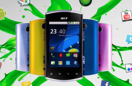 Acer Liquidmini colourful Froyo handset