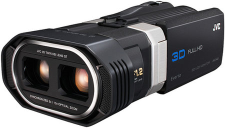 JVC GS-TD1 Full HD 3D camcorder claims world's first