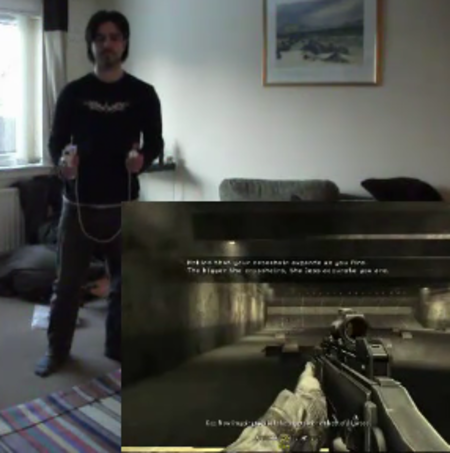 VIDEO: Kinect + Wii + PC + Call of Duty = Gaming win