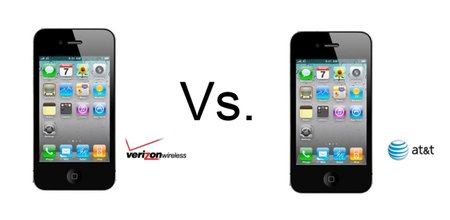 iPhone 4 Verizon vs iPhone 4 AT&T