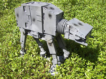 Star Wars AT-AT Imperial Walker made from recycled computer parts for sale - photo 2