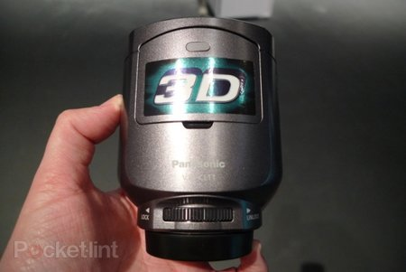 Panasonic VW-CLT1 3D camcorder lens hands-on