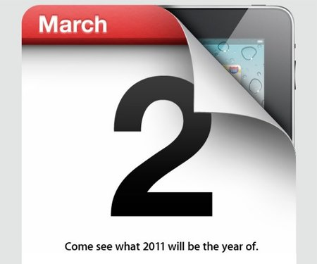 Apple confims 2 March iPad 2 media event