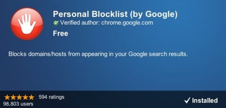 APP OF THE DAY: Personal Blocklist by Google review (Chrome)
