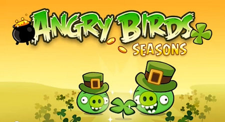 VIDEO: Angry Birds Seasons goes green for St Patrick's Day
