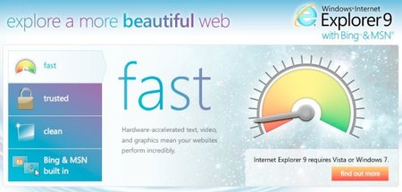 Internet Explorer 9 downloaded 2.35m times already