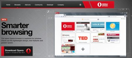 Opera 11.10 browser (Barracuda) released
