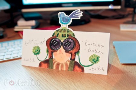 The Twitter-inspired greetings card