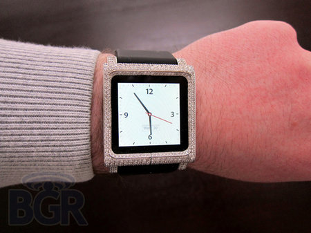 Diamond-encrusted iPod nano watch yours for $18,000