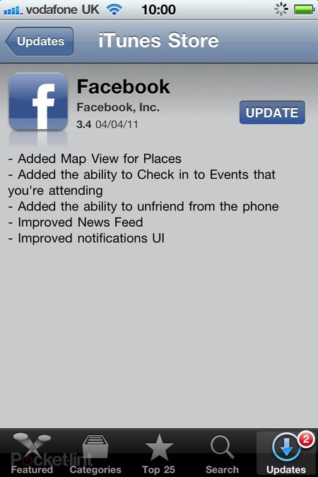 Facebook for iPhone updated, lets you get unfriendly