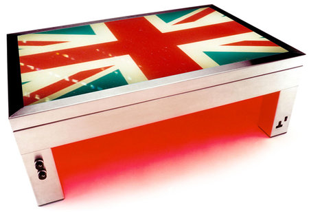 Celebrate the Royal Wedding with an Union Jack Illuminating Coffee Table
