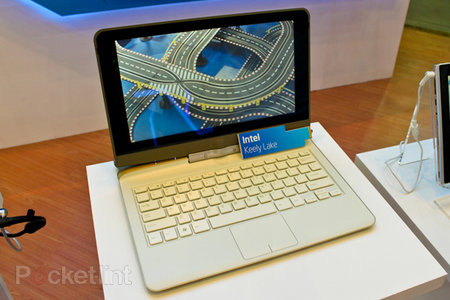 Intel shows off next-gen Atom netbook with swively display