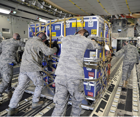 US Airforce enlists robots to pack soldiers' bags