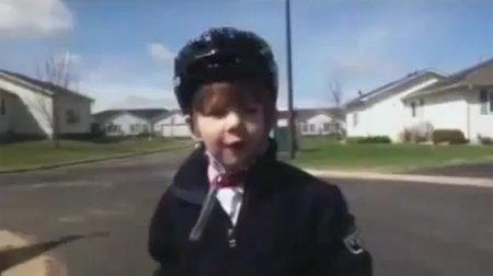 VIDEO: Kid delivers rousing speech after learning to ride bike
