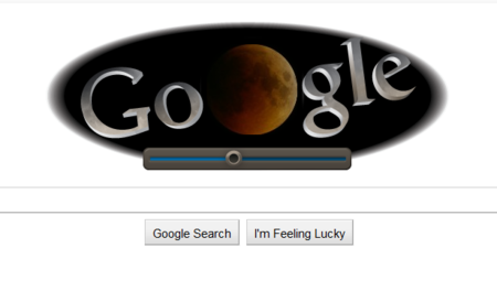 Google Doodle lets you control the lunar eclipse