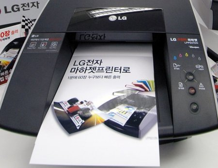LG and Memjet unveil the world's fastest desktop printer