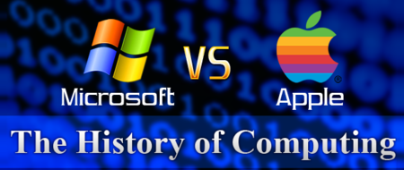 Microsoft vs Apple: Infographic stylee