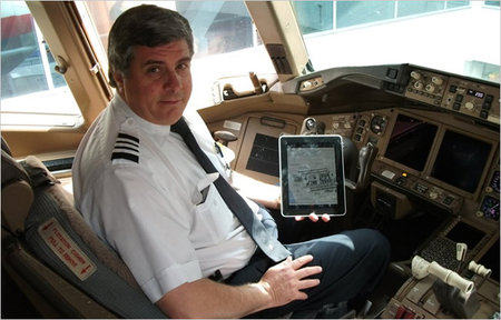 Airline pilots swapping flight manuals for iPads