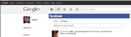 Browser extension brings Facebook stream to Google+