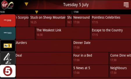Virgin Media TiVo TV Guide App starts recording