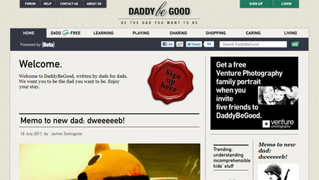WEBSITE OF THE DAY - Daddy Be Good