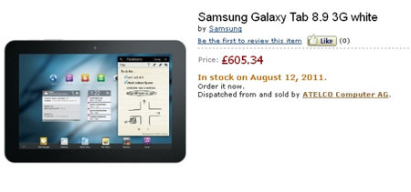 Samsung Galaxy Tab 8.9 tipped for 12 August - but highly unlikely