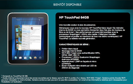 Nippier white 64GB HP TouchPad makes an appearance