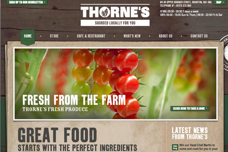 WEBSITE OF THE DAY - Thorne's Foods