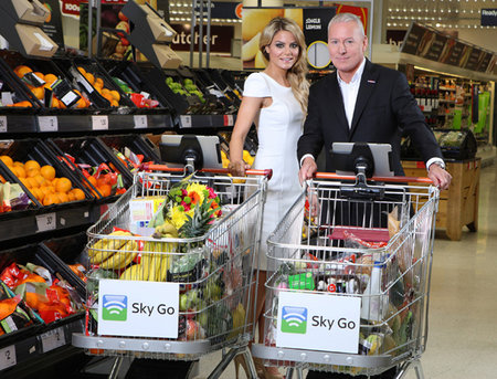 Sky Go and Sainsbury's team up to make iPad-toting shopping trolley