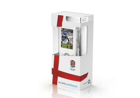 Alcatel One Touch 602 shows its support for England for the Rugby World Cup