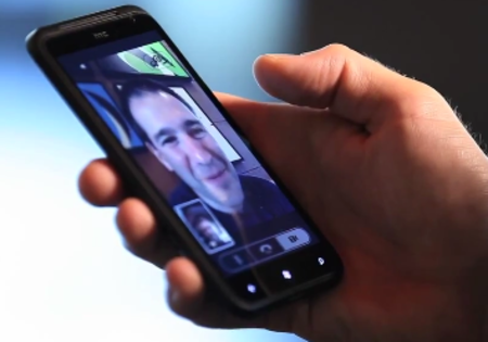 VIDEO: Windows Phone 7 Tango video chat on a HTC Titan