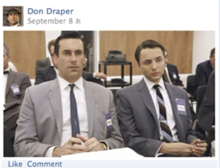 VIDEO: Don Draper pitches Facebook Timeline in Mad Men