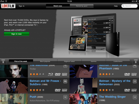 Lovefilm on iPad streams in - photo 2