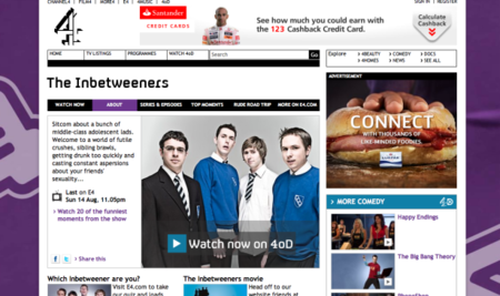 Inbetweeners boosts 4oD views as nation's appetite to catch up continues