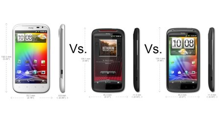 HTC Sensation XL vs HTC Sensation XE vs HTC Sensation