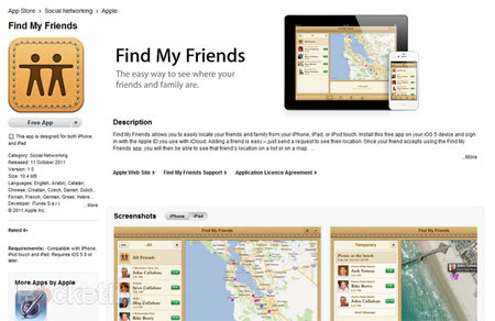 iOS 5: Find my Friends hits Apple's App Store