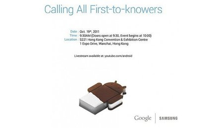 Samsung Galaxy Nexus with Ice Cream Sandwich coming 19 October