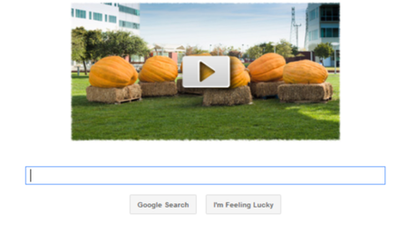 Halloween Google Doodle shows pumpkin time-lapse performance