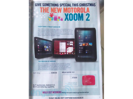 Motorola Xoom 2 confirmed for Christmas by Carphone Warehouse