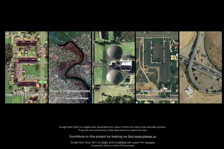WEBSITE OF THE DAY: Google Earth Clock