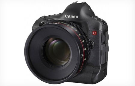 Canon EOS DSLR prototype with 4K detailed