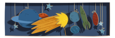 Google Doodle space for Edmond Halley