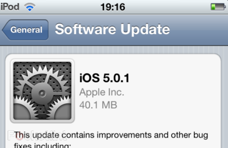 iOS 5.0.1 released to fix your iPhone battery woes