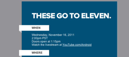 Google Android 'These go to eleven' music event scheduled for 16 November